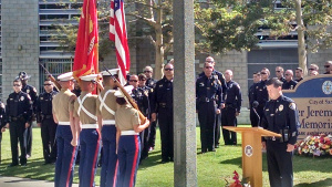 Marine color guard honors Jeremy at his annual memorial